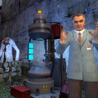 Magnusson explicando a Gordon como utilizar el dispositivo