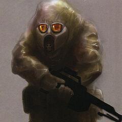 Concepto del Soldado Camuflado