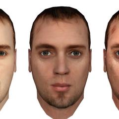 Comparación de las texturas faciales.