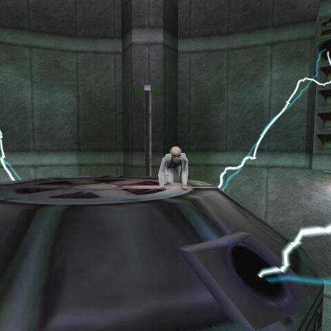 Smithers escondido sobre el generador