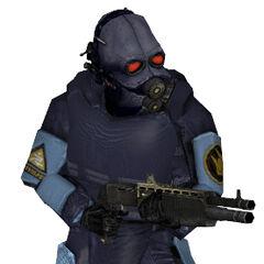 Guardia de prision Nova Prospekt equipado con la SPAS-12
