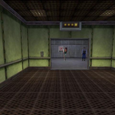 El ascensor en la entrada de