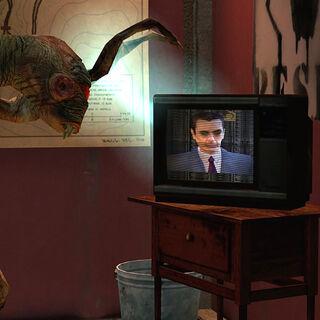 Vort hablando con G-Man en una TV