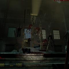 Zombies empalados en Ravenholm