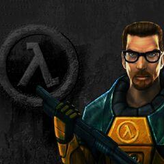Gordon Freeman como aparece en el menú de Half-Life