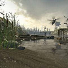 El Helicóptero-Cazador pasando por la Estación 7