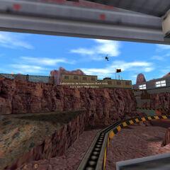 Área 8 Dormitorios de la Superficie siendo sobrevolados por un Helicóptero