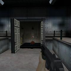 Un ascensor con un <a href=