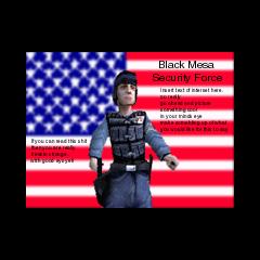 aviso de las fuerzas de seguridad