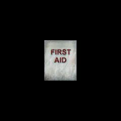 Textura del no usado casillero de primeros auxilios