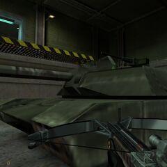 Ametralladora adjunta a un tanque vista por Gordon