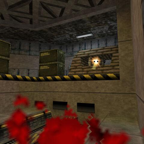 Doble Torreta dañando a Freeman ubicada en el area de triaje pequeño