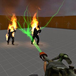 Inmolador desintegrando a dos Soldados Overwatch
