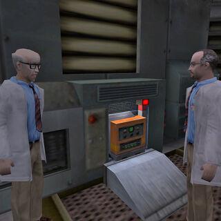 Bennet y Rosenberg discutiendo el plan de escape