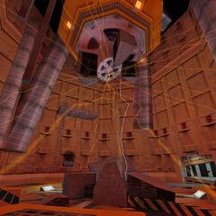 El destruido Espectrómetro de Anti-Matería luego de la Cascada de Resonancia