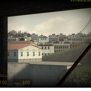 Ciudad 17 vista desde la estación 7