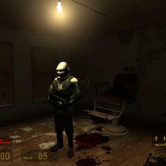metrocop en una sala de torturas