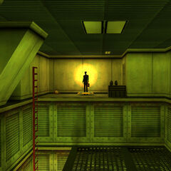 G-Man transportandose fuera del Complejo Lambda