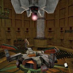 El Espectrometro de anti-materia en la secuencia inicial de Half-Life 2