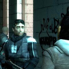 Barney y Alyx discutiendo el plan de escape de Ciudad 17
