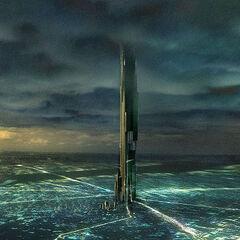 Concepto de Arte previa de la Ciudadela sobre Ciudad 17