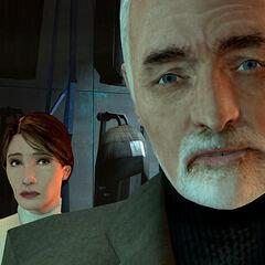 Dr. Breen y Mossman en la oficina de Breen