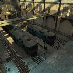 Trenes en las plataformas de la estación