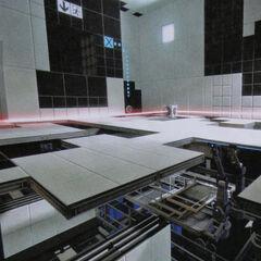 Rayo térmico en una cámara de pruebas