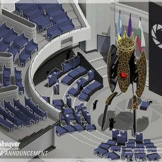 Parte de la presentación pública de adquisición Rey Animal visto cerca del comienzo del juego