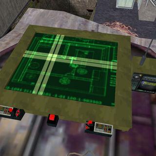 Radio situada al lado del mapa tactico