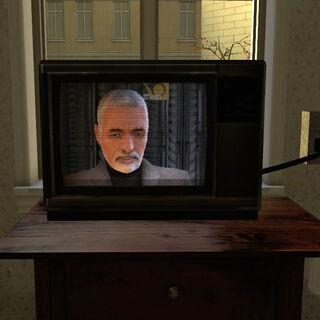 Breencast transmitiendo por una televisión