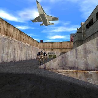 Un F-16 a punto de eliminar a un Alien Grunt