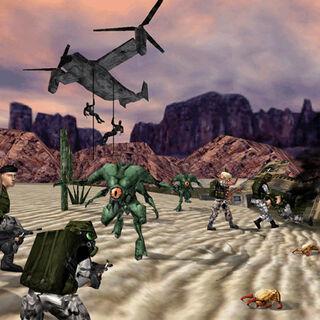 Shock Troopers combatiendo a Soldados, Black Ops y Xen
