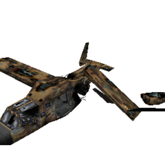 Los restos de un osprey