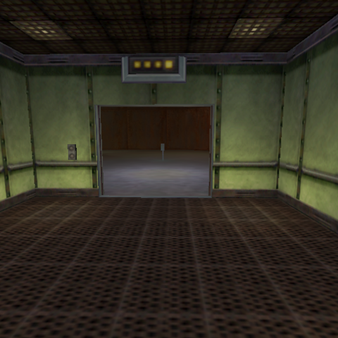 El ascensor en la salida de