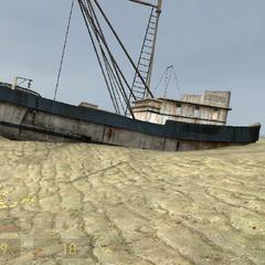 Barco Hundido en La Costa