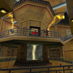 El laboratorio de pruebas bajo el espectrometro de anti-materia