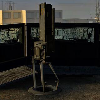 El Dispositivo de Supresión en el techo del Nexus Overwatch