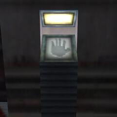 Antiguo escáner de mano encontrado en la parte antigua de Black Mesa