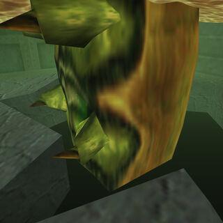 La base del Gusano, demostrando que el gusano viene de bajo tierra