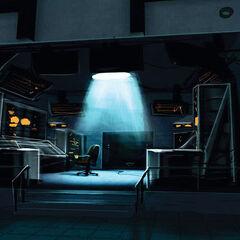 Arte conceptual del lobby de la cámara de GLaDOS