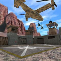 V-22 Osprey descendiendo tropas HECU en las zonas de aterrizaje de Black Mesa