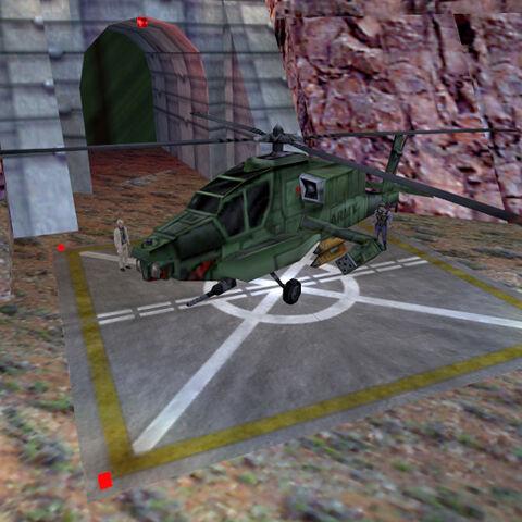 Apache visto en el comienzo de Half-Life