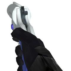Modelo de el arma siendo usada