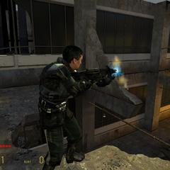 Barney Calhoun Disparando en Half-Life 2