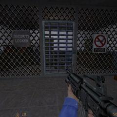 Almacen de Seguridad donde hay un chaleco kevlar y una escopeta