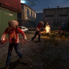 Un grupo de Zombis en Half-Life 2