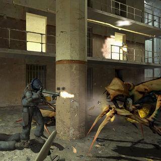 Soldado Overwatch usando la MP5K en Nova Prospekt
