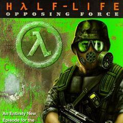 Shephard en la portada de Half-Life: Opposing Force