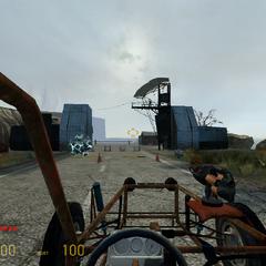 Vista de Base Combine desde el Scout Car (con una rollermine embistiendo)
